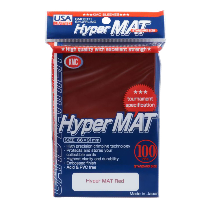KMC Matte Sleeves - Hyper Matte Red