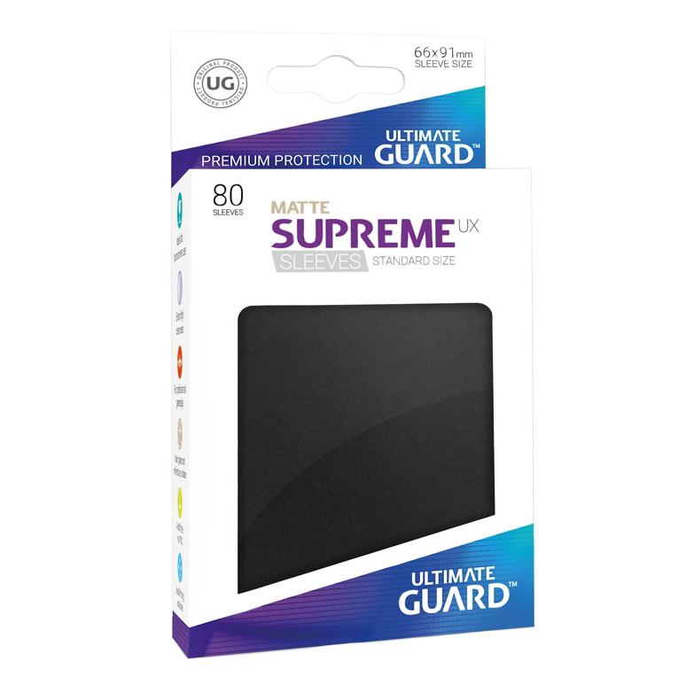 Ultimate Guard Supreme UX Matte Sleeves - Black