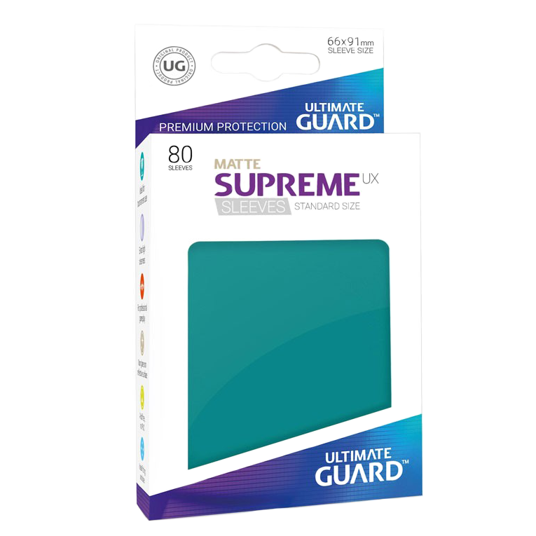 Ultimate Guard Supreme UX Matte Sleeves - Petrol Blue