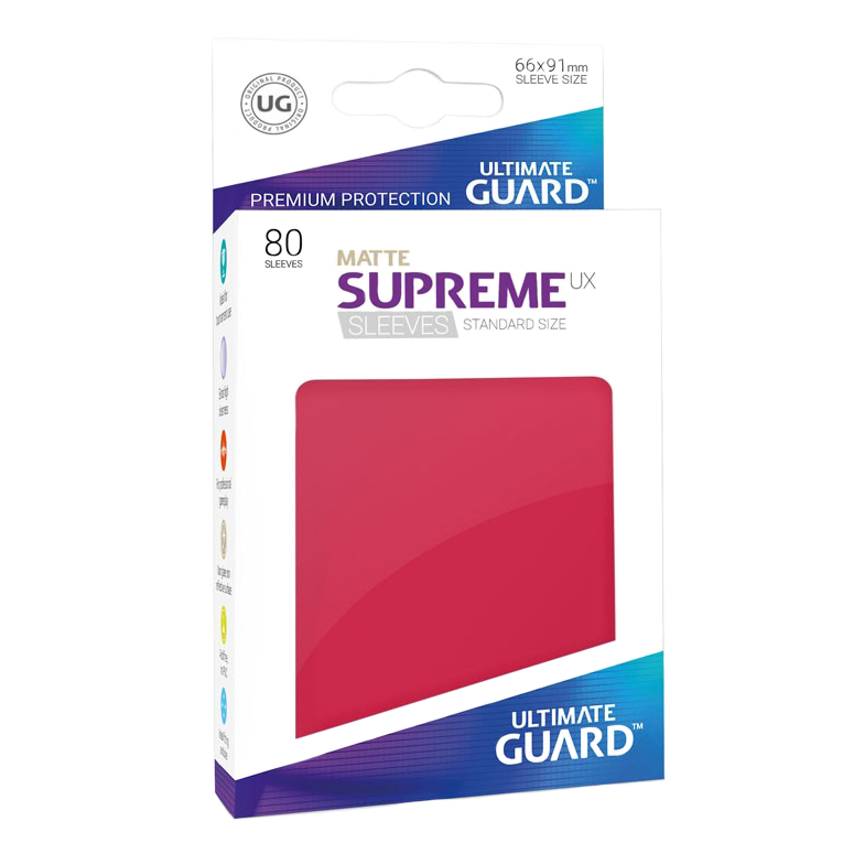 Ultimate Guard Supreme UX Matte Sleeves - Red