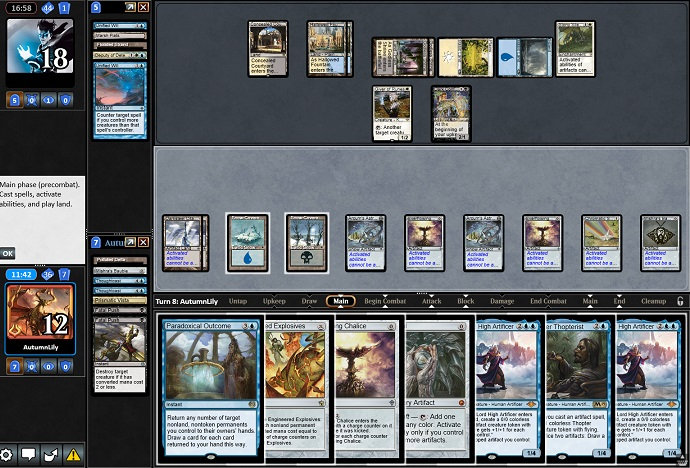 Paradoxical Urza on Magic Online